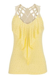 ruffle front eyelet tank with crochet back (original price, $29) available at #Maurices style number 35980