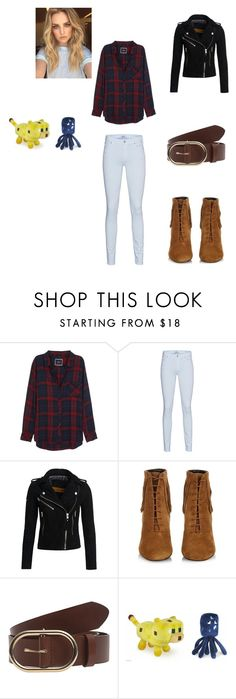 """""""lucas from minecraft story mod"""" by elinakitty67 on Polyvore featuring Rails, 7 For All Mankind, Superdry, Yves Saint Laurent and Frame Denim"""