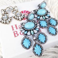 Hidden Treasure Statement Earrings In Baby Blue 22,90 € #happinessbtq