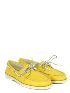SPERRY    Authentic Original Yellow Canvas Boat Shoe