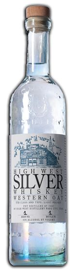 High West Silver Whiskey - An un‐aged oat whiskey (akin to a blanco tequila) with a mash bill containing 85% oats and 15% barley malt.