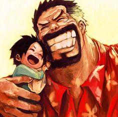 Garp and Luffy
