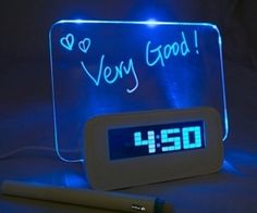 You can write any words on the board what you like. At night, you can read the words on the LED luminous screen board. Very good!