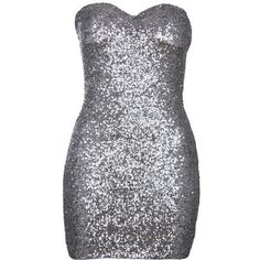 Silver Sequin Strapless Sweetheart Dress ($26) ❤ liked on Polyvore featuring dresses, vestidos, short dresses, floral mini dress, short floral dresses, short silver dresses and sequin mini dress