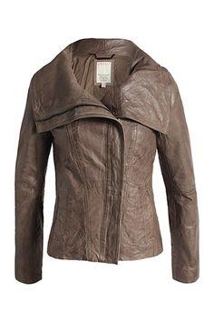 Leather jacket - Esprit