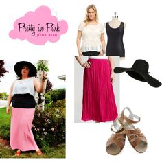 """Pretty in Pink (Plus Size)"" by thecurvyelle on Polyvore"