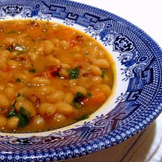 One Perfect Bite: White Bean Soup with Peppers and Bacon