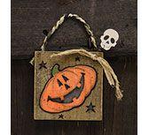 *Pumpkin Skull Ornament