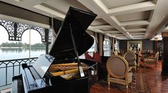 Misr Steamer Nile cruise piano lounge