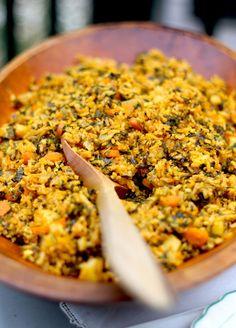 Tunisian Spinach Rice recipe