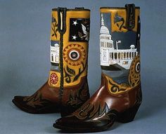President Eisenhower Cowboy Boots gift from Rios of Mercedes   1953