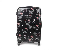 """(via Hello Kitty 23"""" Suitcase: Apple Collection in Bags Travel  Accessories Luggage at Sanrio.com)"""