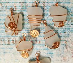 DIY How to wire wrap beach glass tutorial
