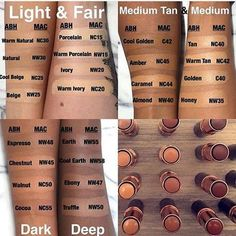 Abh concealer beauty products pinterest abh macs and makeup what is your shade beauty feature abh foundations that match up with mac shades publicscrutiny Choice Image