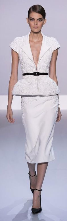 Ralph & Russo Couture Spring 2014~add some tasteful coverage for the office, beautiful