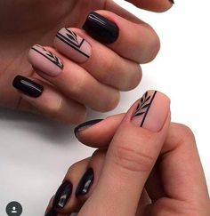 65 Cute Short Acrylic Square Nails Ideas For Summer Nails These trendy Nails ideas would gain you amazing compliments. Check out our gallery for more ideas these are trendy this year. Square Nail Designs, Black Nail Designs, Short Nail Designs, Nail Art Designs, Nails Design, Black Nail Art, Fall Nail Art, Fall Nails, Trendy Nails