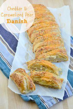 Cheddar & Caramelized Pear Danish