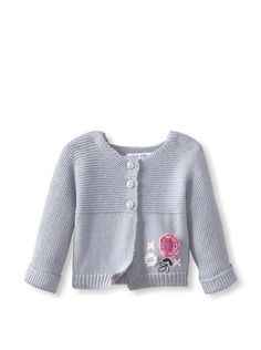 Discover thousands of images about Sucre d'Orge Baby Sweater Knit Cardigan - garter stitch + jersey Baby Knitting Patterns, Knitting For Kids, Knitted Baby Cardigan, Sweaters Knitted, Cardigan Pattern, Baby Girl Jackets, Baby Girl Sweaters, Quick Knits, Baby Girl Crochet