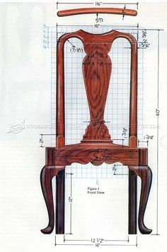#1172 Queen Anne Side Chair Plans - Furniture Plans