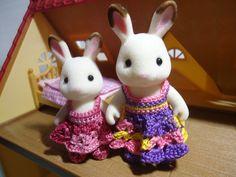 Sylvanian Families Shell-stitched Dress (free Crochet Pattern)