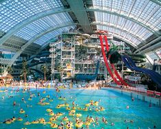 A waterpark inside a shopping centre? Of course! Can't wait to visit West Edmonton Mall!