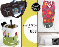 How to Insert a Flat Circle Into a Tube   Sew4Home