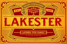 LAKESTER FONT FAMILY (PLUS BONUS) by AgungMaskund on Creative Market