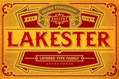 LAKESTER FONT FAMILY (PLUS BONUS) by AgungMaskund on Creative Market