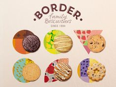 Border Biscuits branding, by Coley Porter Bell
