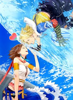 Tidus and Yuna - FFX; beautiful!; I miss this game. I want them to improve the graphics and bring it out again.