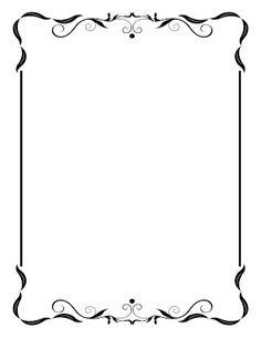 invitation border templates