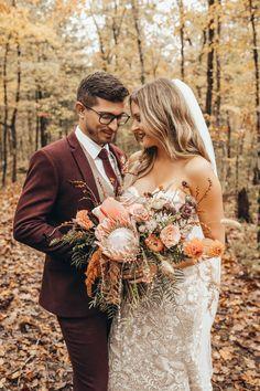 Wedding Groom, Wedding Attire, Wedding Couples, Wedding Dresses, Autumn Bride, Autumn Wedding, Groom And Groomsmen Suits, Dream Wedding, Wedding Day