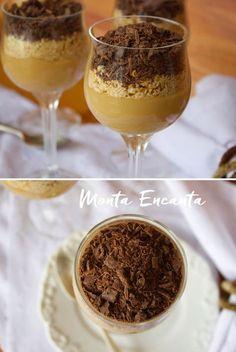 Alfajor Cremoso, a combinação doce de leite , bolacha e chocolate continua, o que muda é a apresentação. Desconstruído, servido no copinho e em camadas.
