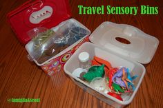 Travel Sensory Bins and Other Ideas for your End of Summer Vacation