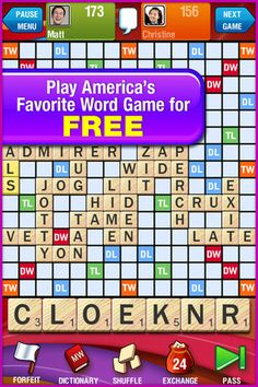 SCRABBLE Free ($0.00) CONNECT AND PLAY WITH FRIENDS! Now it's easier than ever to find friends playing SCRABBLE. Square off and play up to 50 games at once – more than any other word game on the App Store! See why SCRABBLE is America's Favorite Word Game