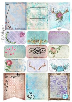 Damask Romance planner stickers for ECLP IWP kikkik Happy