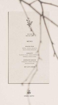 wording for wedding menu Simple Wedding Menu, Minimal Wedding, Simple Weddings, Trendy Wedding, Wedding Unique, Elegant Wedding, Wedding Menu Template, Wedding Menu Cards, Wedding Stationary
