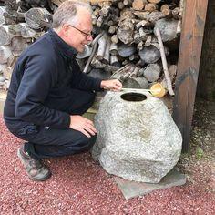 Japan antique hand carved granite stone garden planter basin   2
