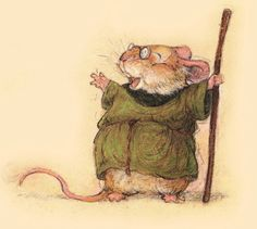 Redwall storybook illustration by Christopher Denise. Storyboard, Cute Mouse, Doodles, Children's Book Illustration, Creature Design, Cute Art, Painting & Drawing, Fantasy Art, Fairy Tales