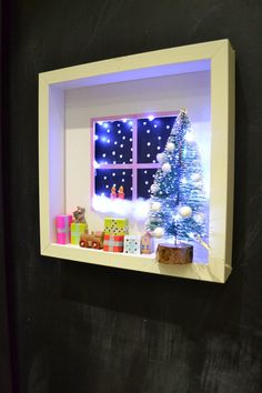 Crafting - Create a Christmas shadow box scene - mommo design: XMAS DIY