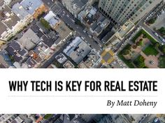 Like in other economic sectors, new technologies in real estate are creating unprecedented opportunities to save or make money when buying a property or investing in the real estate market. Entrepreneur and finance expert, Matt Doheny provides valuable information for all real estate professionals looking to leverage the power of social media and new technologies in the 21st century.