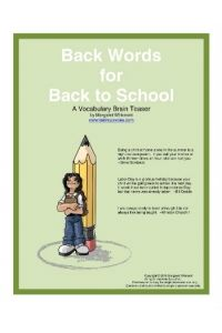 Back Words for Back to School
