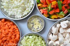 Chili con carne - de verse groenten/ingrediënten