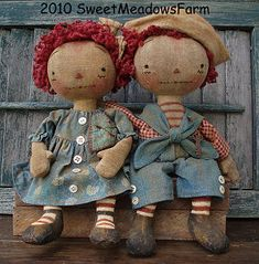 *RAGEDY ANN & ANDY ~ Cloth Doll Patterns by Maureen Mills
