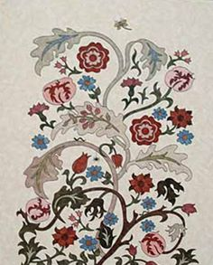 Betty McNeill brought her finished William Morris quilt to class the other day. Here are some detail shots. She used a variety o...