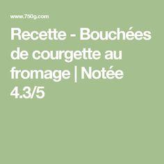 Recette - Bouchées de courgette au fromage | Notée 4.3/5