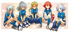 Inazuma Eleven Go, Play Soccer, Boy Art, Art Google, Disney Characters, Fictional Characters, Cartoon, Image, Emoji