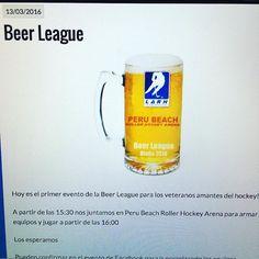 Hoy 13 de marzo 15:30 primer encuentro de Beer League #LO2016 en #perubeachrollerhockeyarena http://ift.tt/1Uq3SXH - http://ift.tt/1HQJd81
