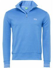 Hugo Boss Green Half Zip Logo Sweatshirt