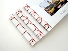 Japanese Stab Binding Travel Journals #bookbinding